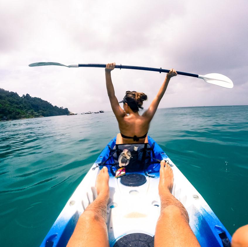 Kayaking off Perhentian Kecil