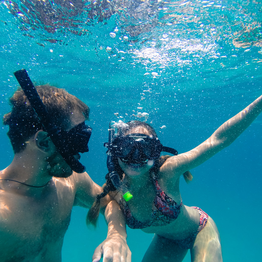 Snorkling off the perhentian islands.