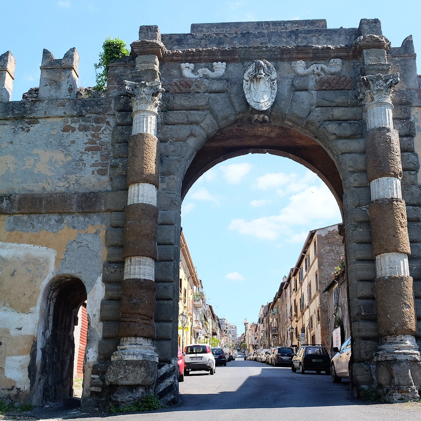 The Entrance to Zagarolo old town