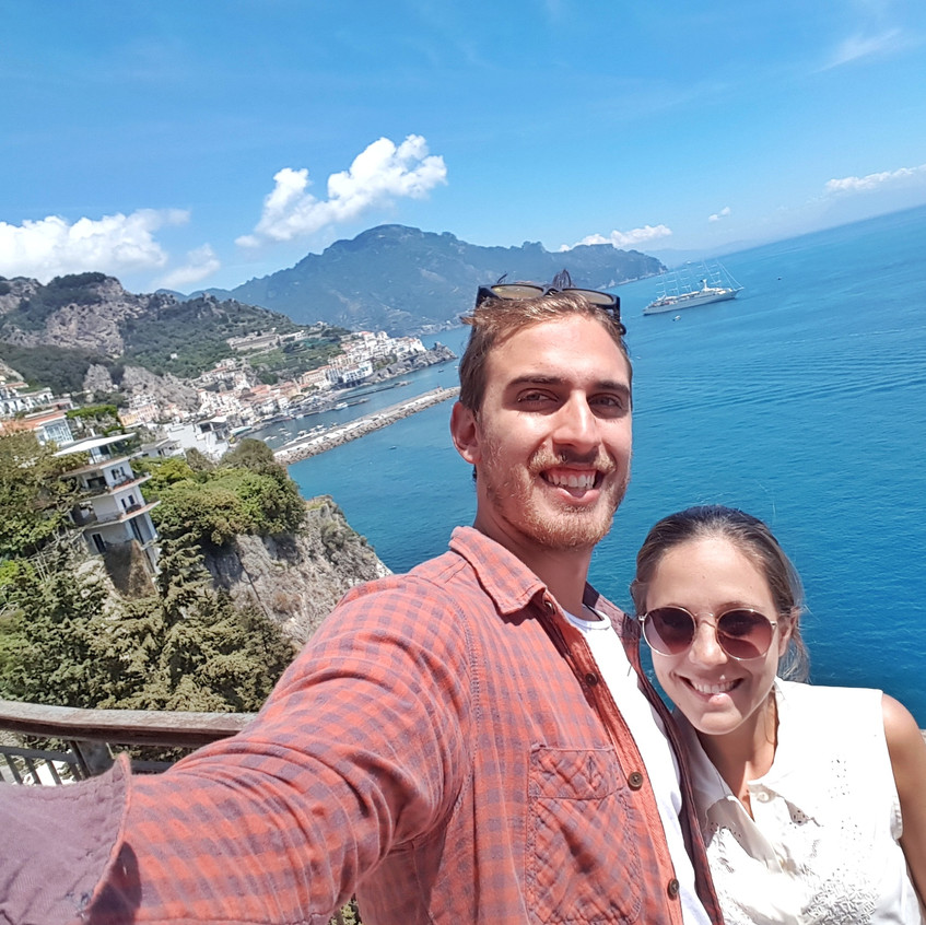Another stop over to catch the view of the Amalfi coast