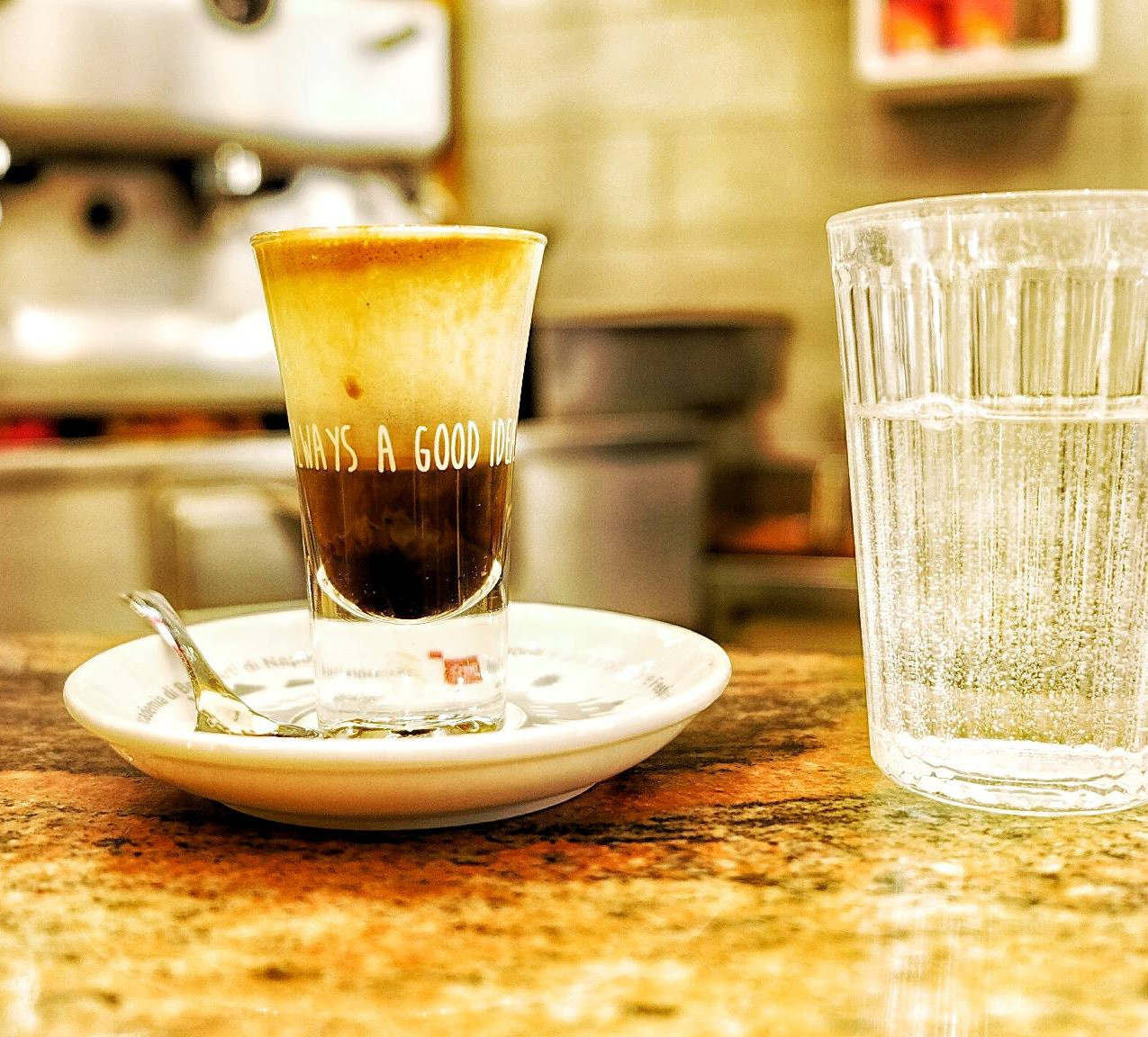 You can't miss out on trying a typical italian coffee, that is a espresso.