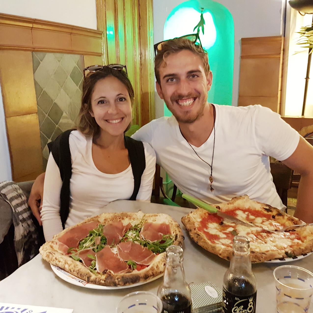 Magarita pizza and Rodolfo pizza