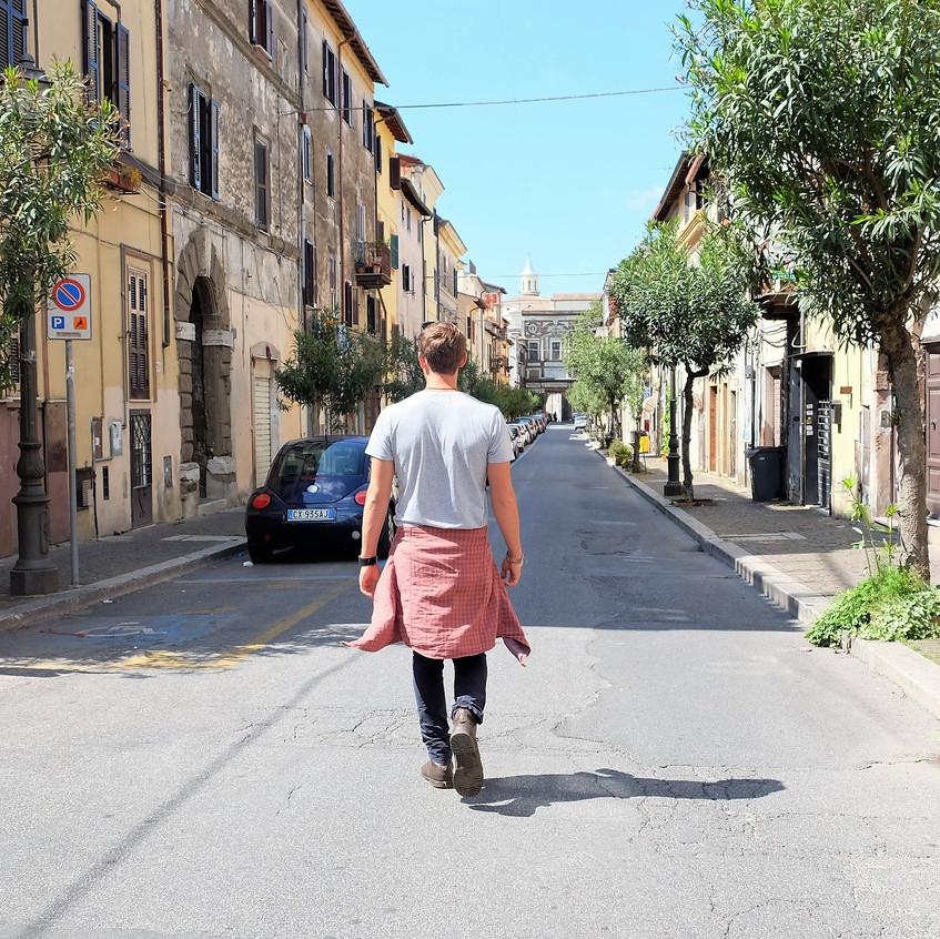 Walking the streets of Zagarolo