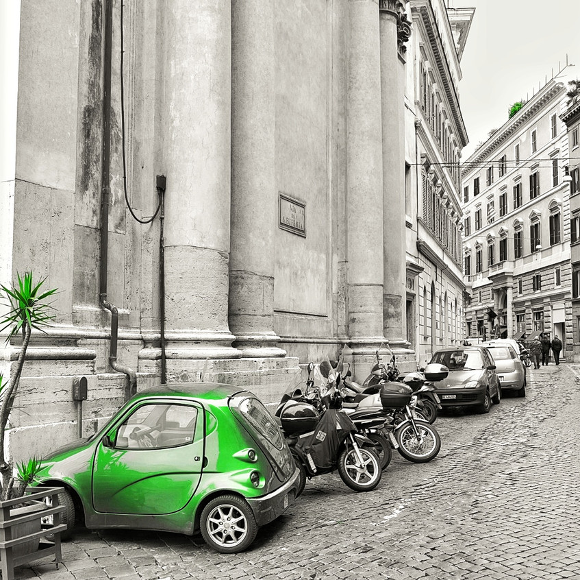 When the car is smaller than the vespa