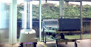 Coronavirus: Robots use light beams to zap hospital viruses