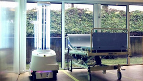 Coronavirus: Robots use light beams to zap hospital viruses