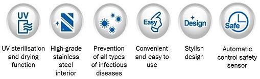 Main Features - Toothbrush Steriliser -