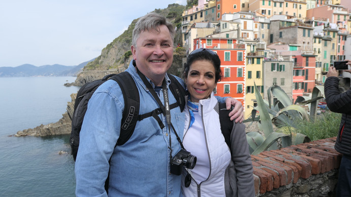 Guests,Steve Smith and Michelle Curto Cinque Terre
