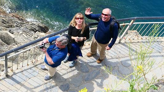 Guests at Cinque Terre lookout.JPG