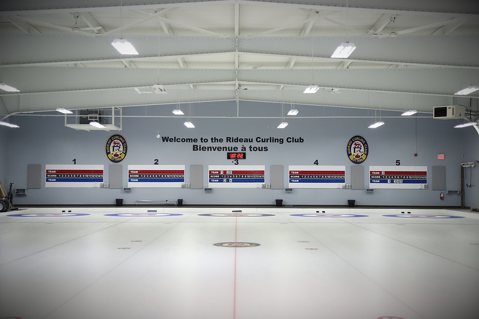 Our ice shed facility. It includes five sheets of ice and has score boards at the other end.