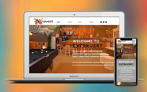 Project Etravert Web Redesign