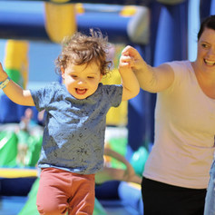 mom and toddler at tuff nutterz course