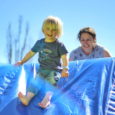 parents and toddler at tuff nutterz course