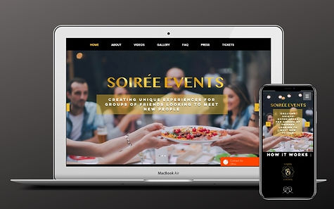 Project Sydney Soiree Website Design