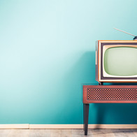 Retro old outdated classic television re