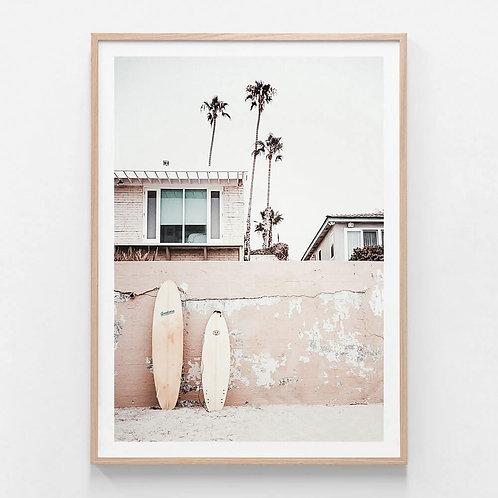 Surfers Home Framed Print