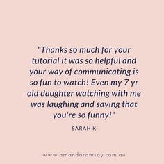 Sarah K Testimonial Sept 2020