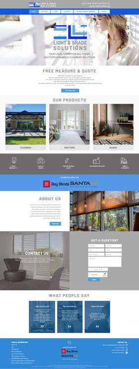 Shutters & Blinds Company Website Design