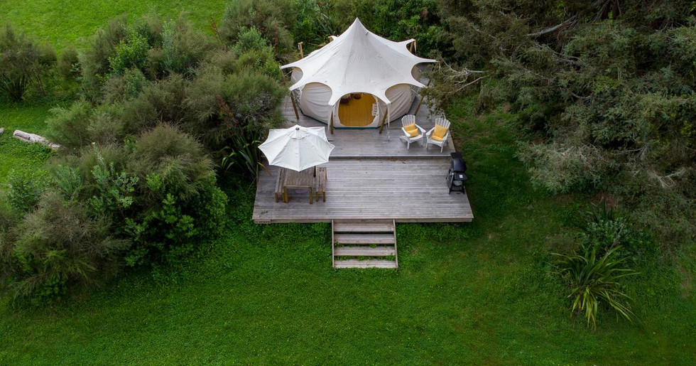 Aerial View Of One Of The Tents
