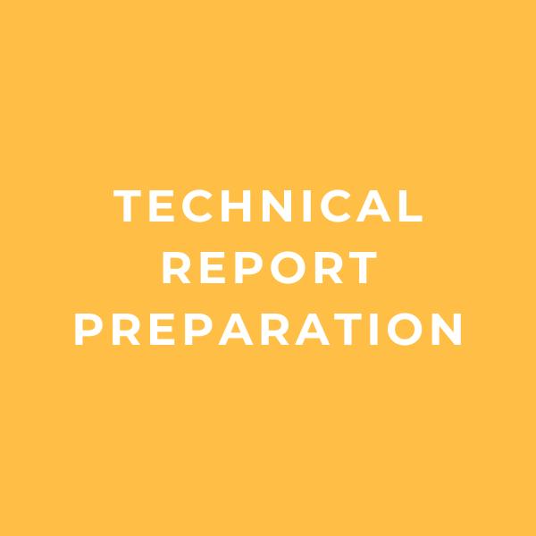 Technical Report Preparation