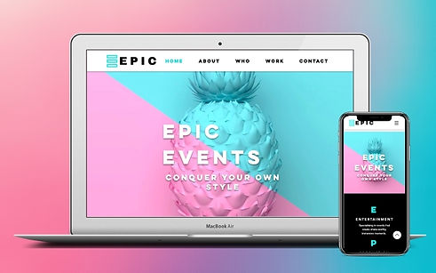 Project EPIC Events Web Design & Business Support