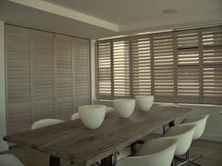 DINING ROOM HINGED SHUTTER WINDOW & BI-FOLD DOOR