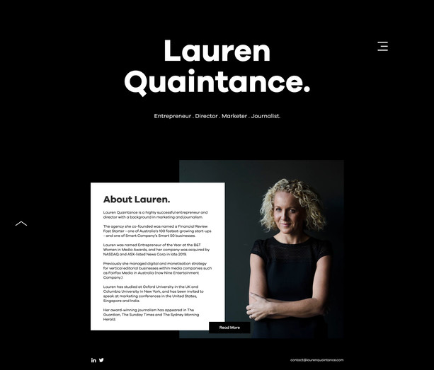 Black and White website Design
