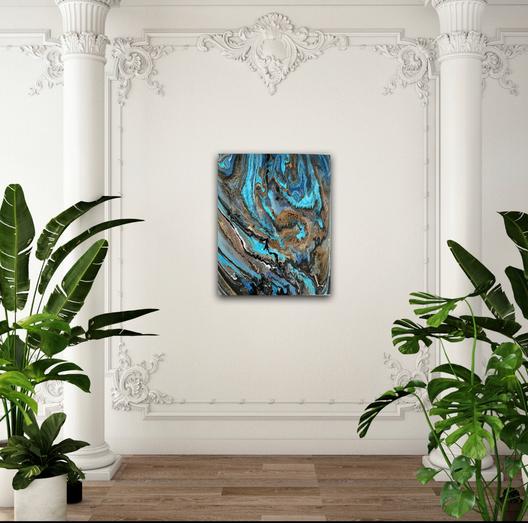 Ocean Fluid Art Painting For Sale
