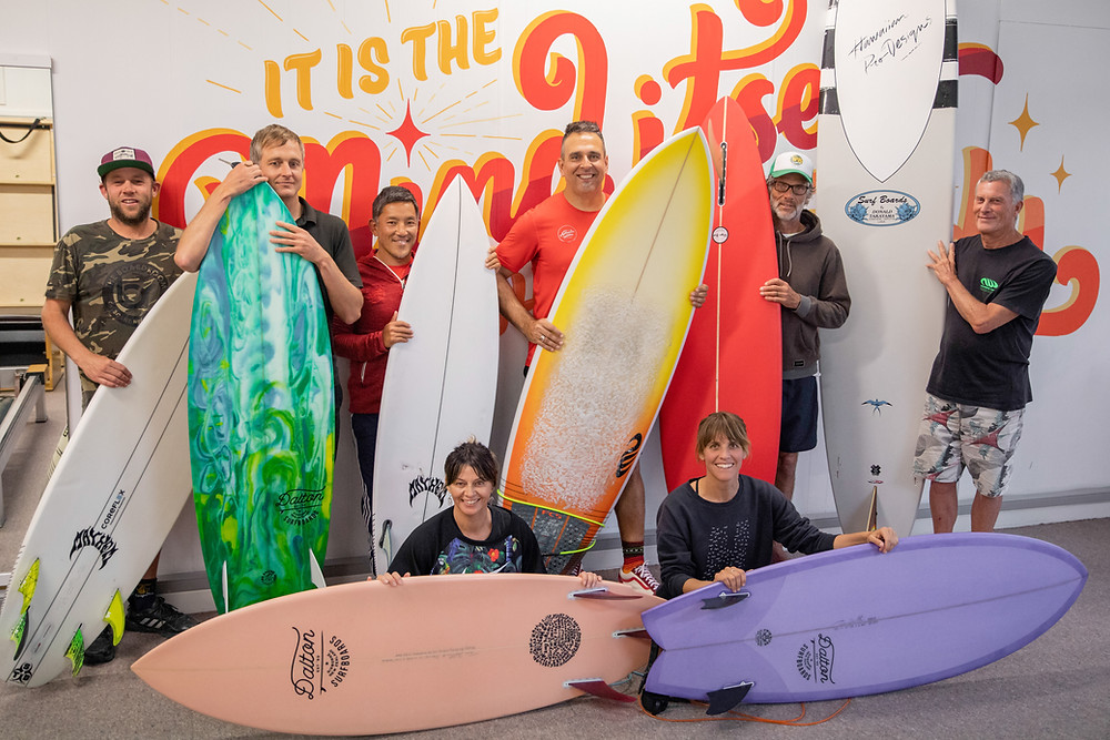 From left to right: Tommy Dalton, Damon Gunness, Thomaz Yonekura (instructor), Fabio Geronazzo (instructor), Trent Lillis and Ian Gall. Seated: Gina Robinson and Claire Youmans