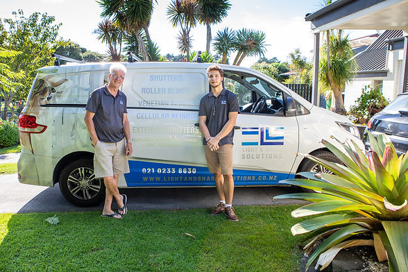 Father and Son Team At Light & Shade Solutions
