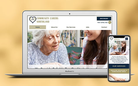 Elderly Care Web Design Project Image