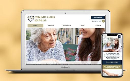Aged Carers Website Design