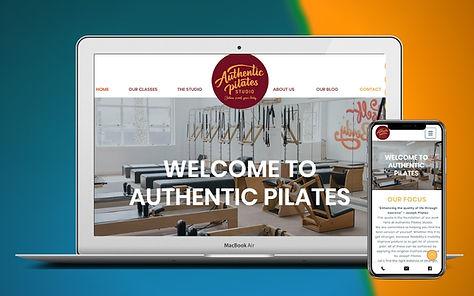 Pilates Studio Web Design Project Image