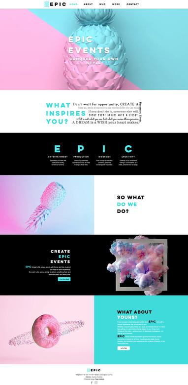 Bright Bold Unique Event Website Design.