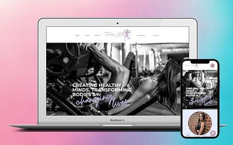 Feminine and Vibrant Personal Trainer Web Design Project Image