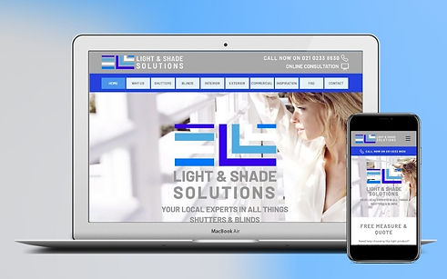 Project Light & Shade Solutions Website Build & Business Set Up