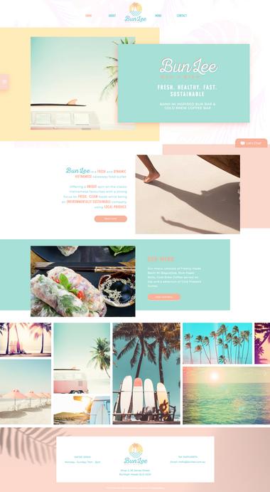 Beach Surf Tropical Cafe Website Design.