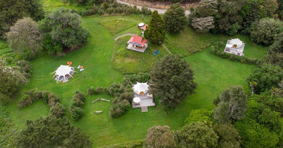 Aerial View Of One Durham Farm Waipu Campsite