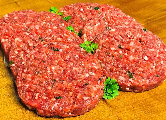6 packs of 4 x Organic Angus Beef Burgers 400g