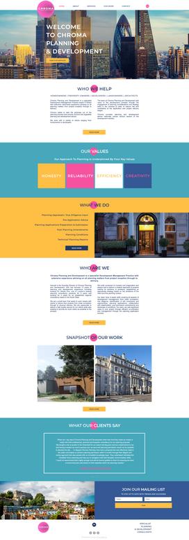 Colourful Bold Website Design