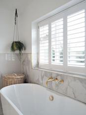 BATHROOM HINGED SHUTTER WINDOW