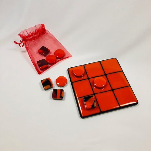 Tic Tac Toe game, 5 1/2 x 5 1/2 inches, 10 games pieces