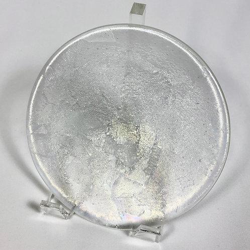 Mini bowl, 6 inches, textured iridescent glass
