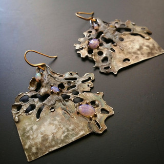 Spellbound with Corals Earrings/ Opal