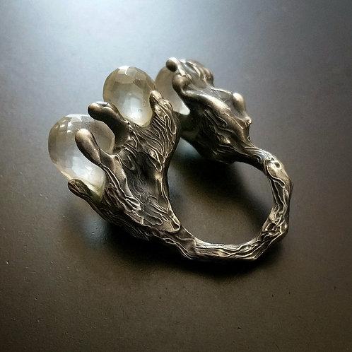 Spellbound with Сorals/Grey/Triple Open Ring