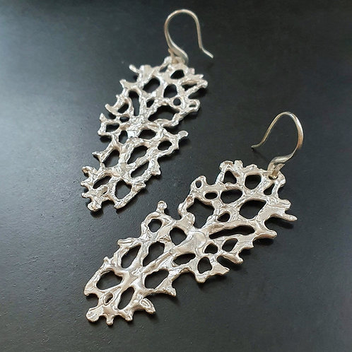 Spellbound with Corals Earrings/Bright silver
