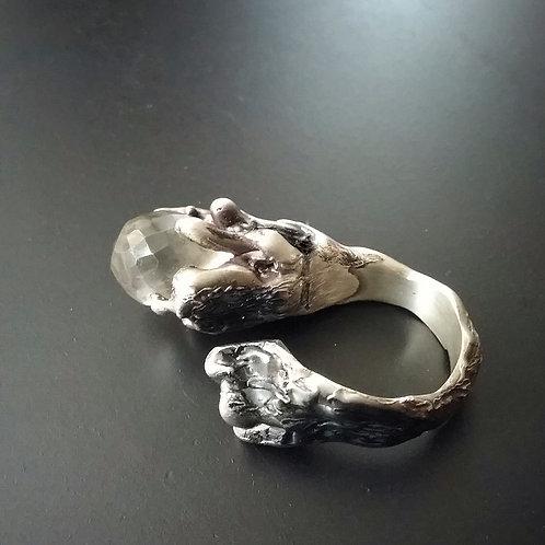 Spellbound with Сorals/One Grey Open Ring