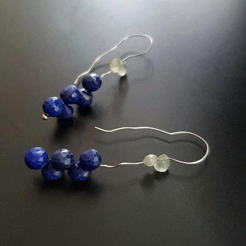 Wood Nimph Earrings/Lazuli