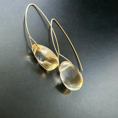 Bareelements Drop Earrings/ Citrine
