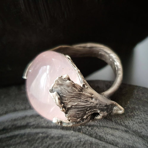 Dryad Rose Ambrosia ll Ring/ Rose Quartz